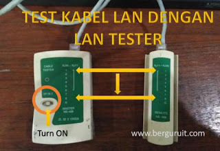 LAN Tester, Cara mengecek kabel LAN