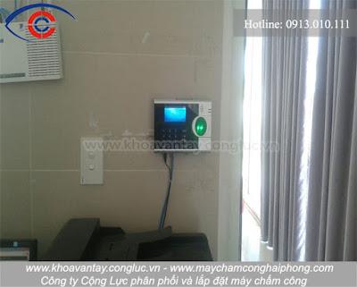 Hoàn thành lắp đặt máy chấm công tại nhà hàng Marina - Tuần Châu - Hạ Long - Quảng Ninh.