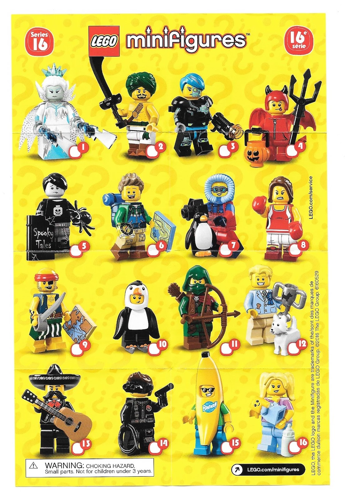 The Minifigure Collector: Lego Minifigure Series 1 -17 ...