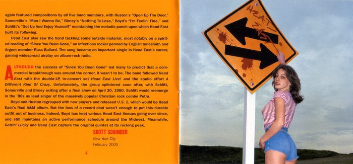 HEAD EAST - Head East [remastered 2in1 Ltd. Edition reissue] Out Of Print - booklet