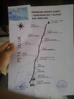 climbing routes via Dipajaya