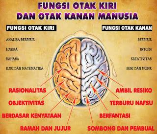 Perbedaan fungsi otak kanan dan otak kiri