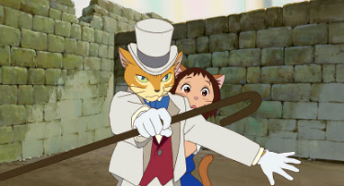 The Baron guards Haru The Cat Returns 2002 animatedfilmreviews.filminspector.com