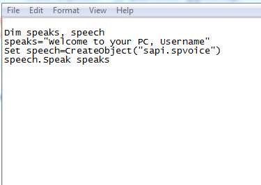 How To Make Your Computer  Welcome You In Its Computerized Voice