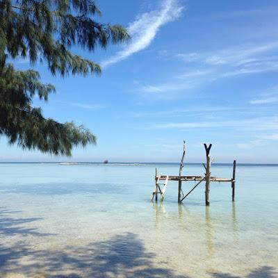 foto suasana di pulau tidung kepulauan seribu