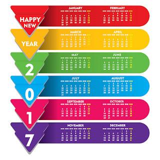 2017カレンダー無料テンプレート162