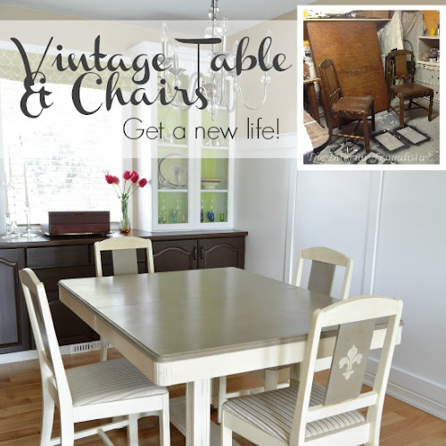 Old Violet - An Art Deco Trestle Dining Table Makeover