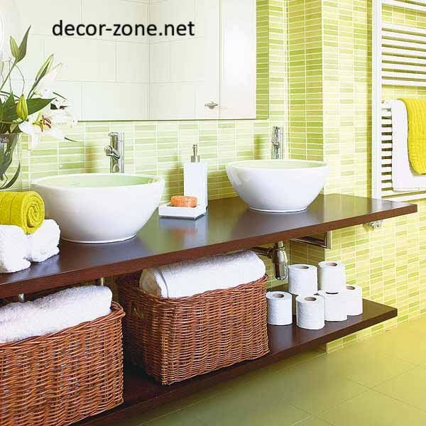wicker baskets for bathroom towel storage