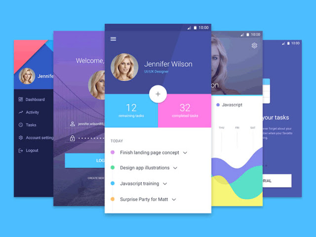 Mobile App Material UI Templates