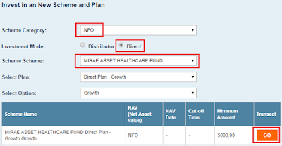 Mirae Asset Healthcare Fund - NFO Purchase