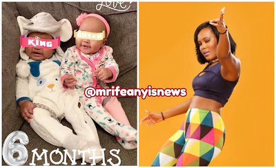 Singer Emma Nyra celebrates her twins as they clocked 6-months old