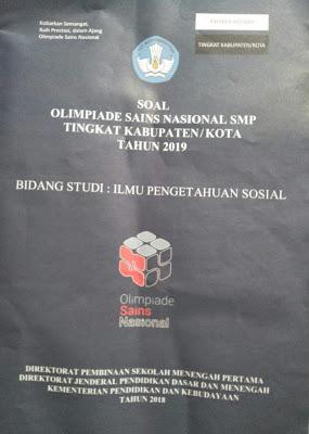 Soal Osn Ips Smp Tingkat Kabupaten Kota Tahun 2019 Didno76 Com