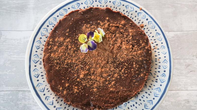 raw flourless chocolate torte