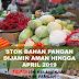Stok Bahan Pangan Dijamin Aman Hingga April 2019