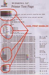 Printer Epson T11/T13/T20 Hasil Print Ngeblok