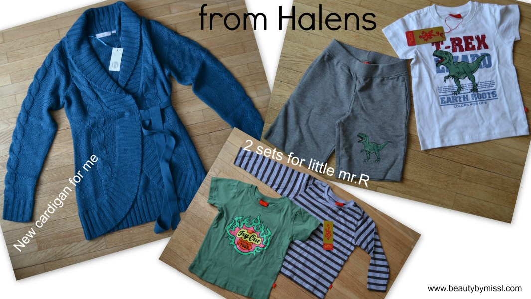 Cardigan for me and  2 sets for little mr.R