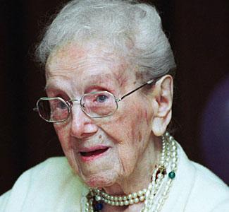 Sarah Knauss at age 121