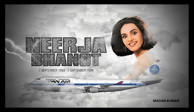 Neerja Bhanot -  First woman recipient of the Ashoka Chakra award, India's highest civilian decoration for bravery.