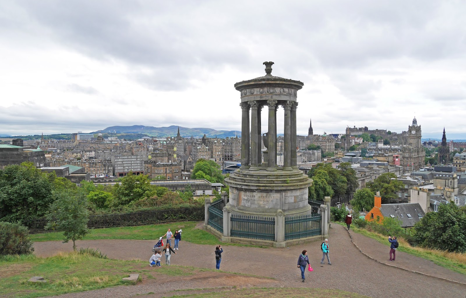 Edinburgh city view from Calton Hill