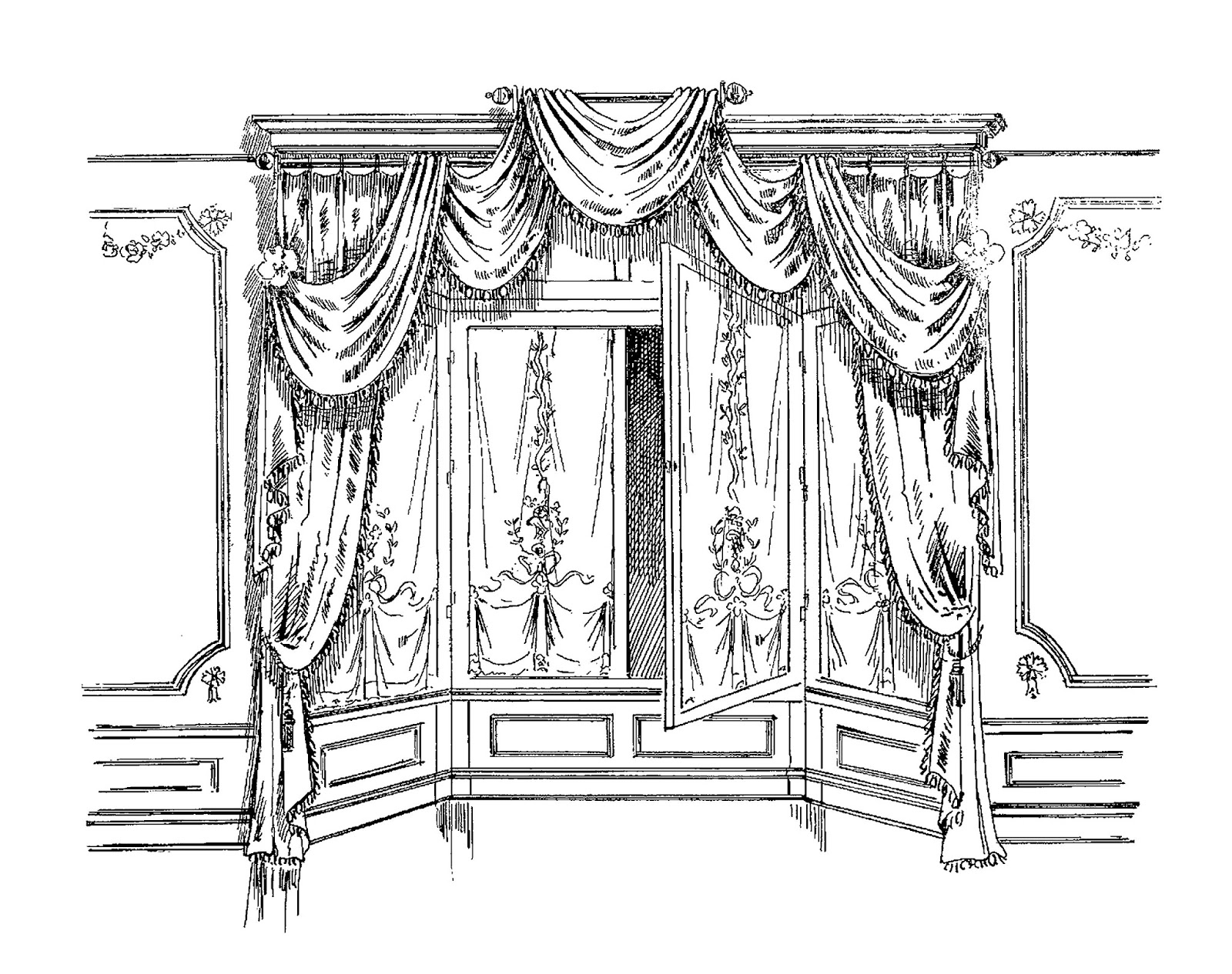 Curtain French Design Download Image