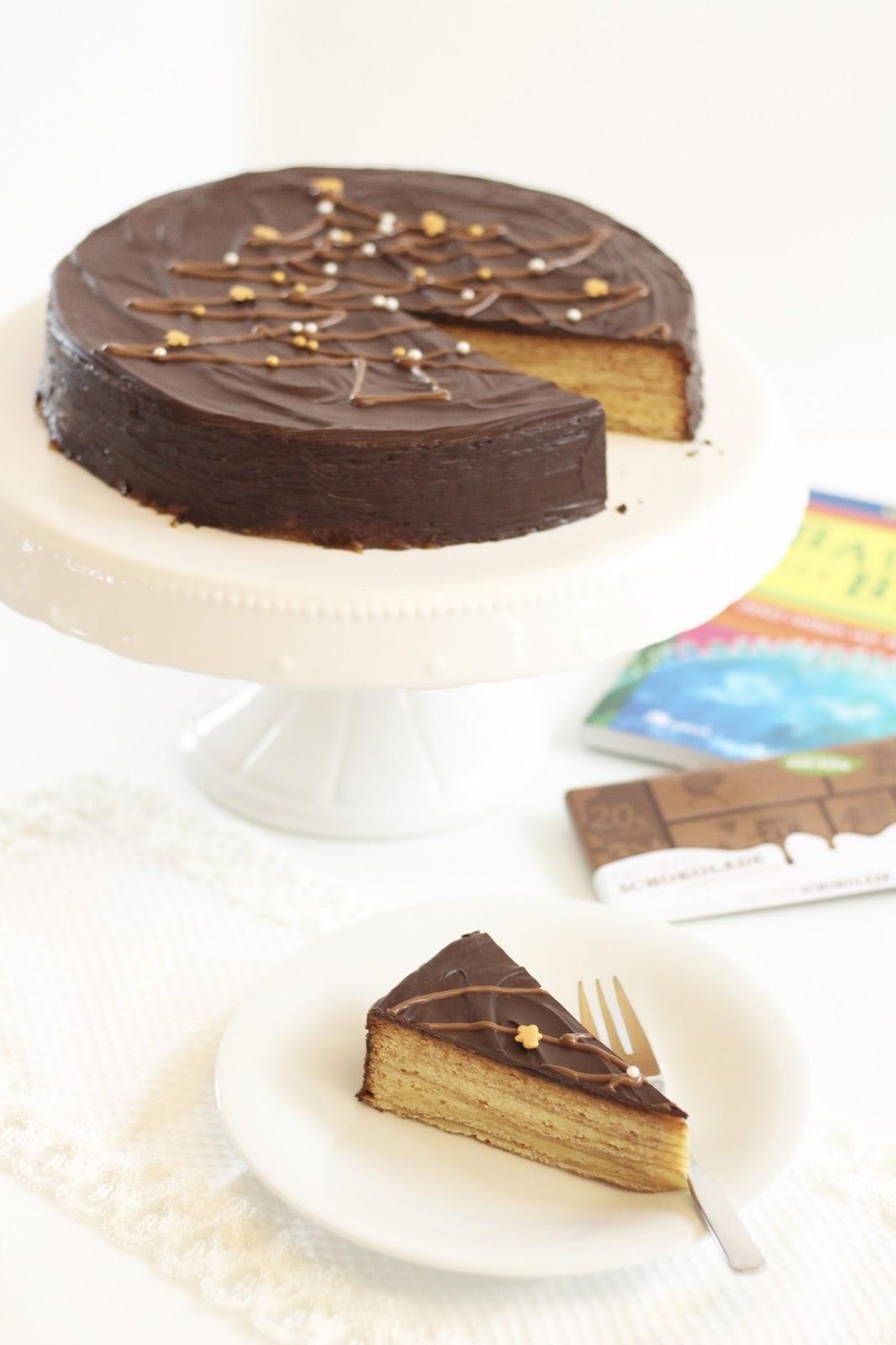 Baumkuchen für Die Gute Schokolade und Plant-for-the-Planet