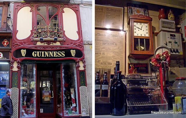Barcelona: um pub no Bairro Gótico e uma taberna no Born