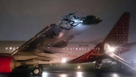 [Video] Pesawat #BatikAir Berlanggar Ketika Berlepas Di #Jakarta
