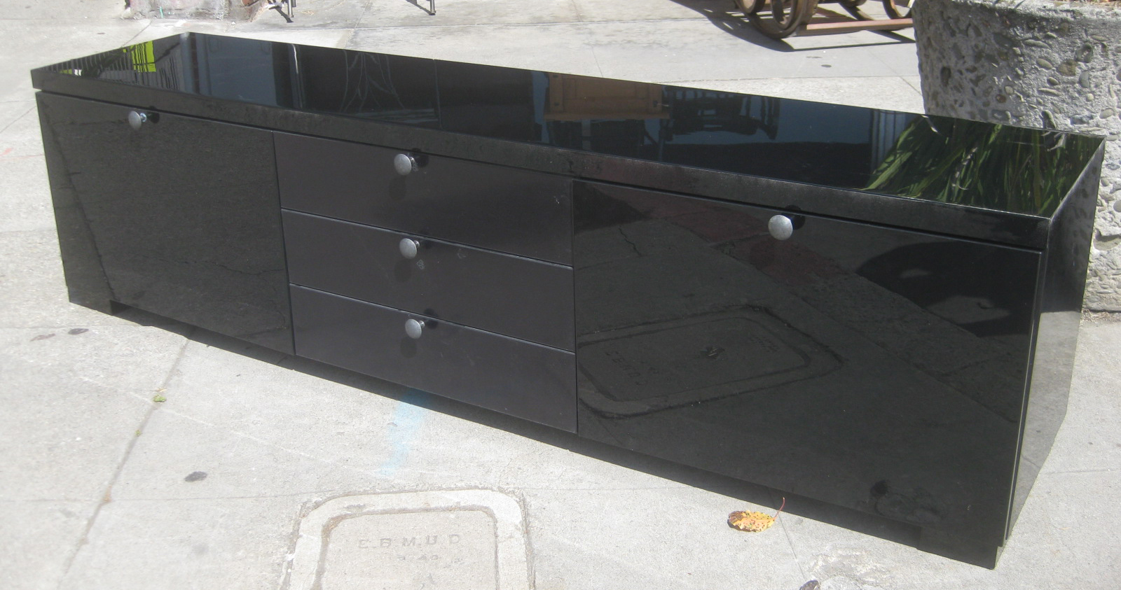 UHURU FURNITURE & COLLECTIBLES: SOLD - Long Low TV Stand - $80