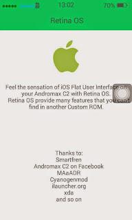 Custom ROM RETINA for Andromax C2 (Real IOS 7)