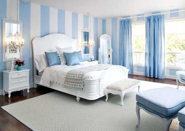 Light Blue Bedroom Decorating Ideas & Light Blue Bedroom Decorating Ideas for Brighter Environment - HAG ...