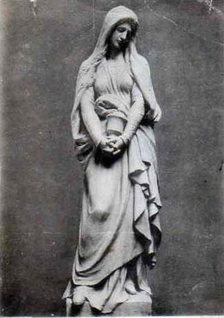 Statue de Marie-Madeleine à Vézelay.