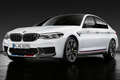 BMW M5 Saloon With M Performance Parts (2018) Front Side