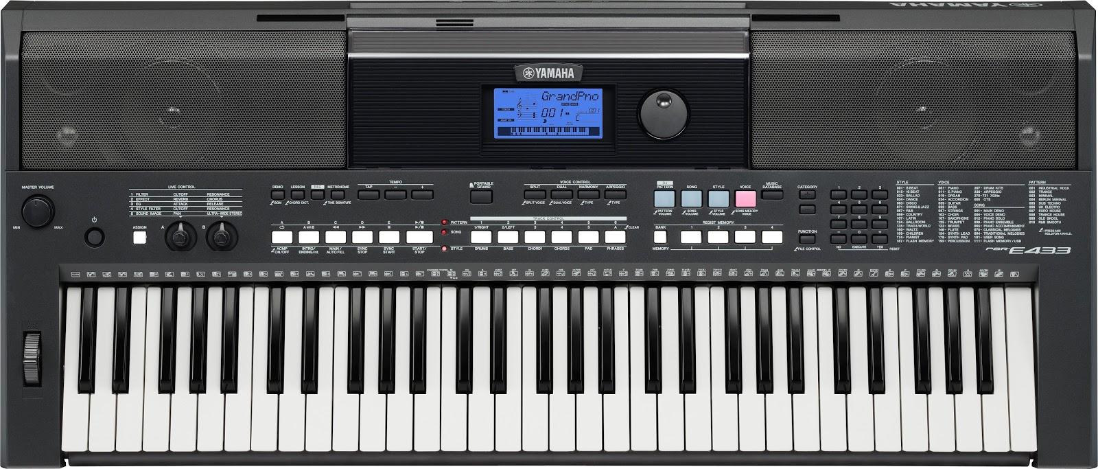 dan Organ Yamaha Psr E433