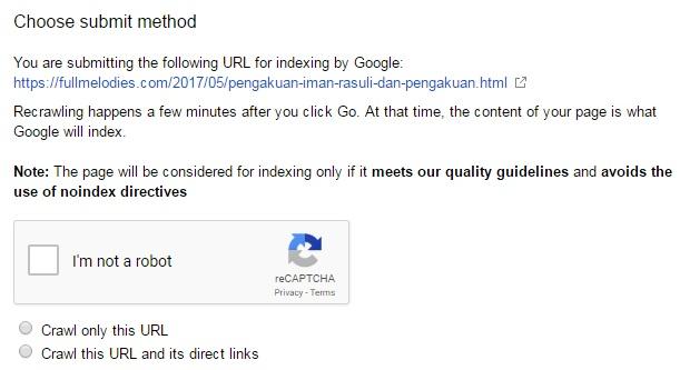 cara terbaru submit artikel blog ke google