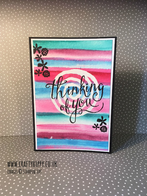 Aqua Painters, Drawing Gum and Watercolour Paper card, Stampin' Up!