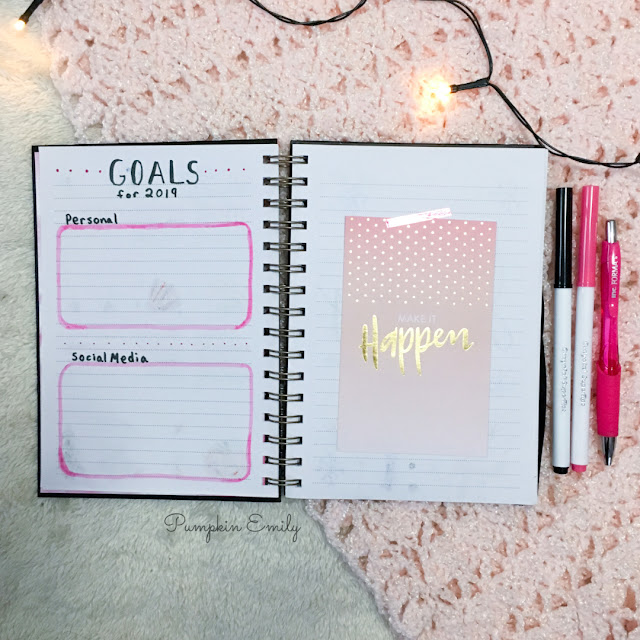 2019 Bullet Journal Goals Page