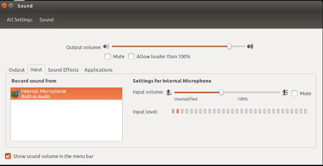Setting Microphone di Ubuntu Untuk melakukan perekaman