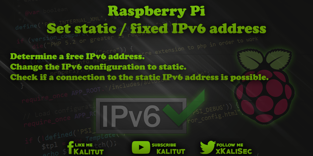 Raspberr Pi-static-IPv6-address