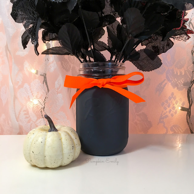 DIY Halloween Mason Jar