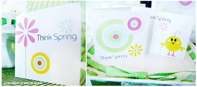 think spring mini cards, spring stationery line, mini cards, spring