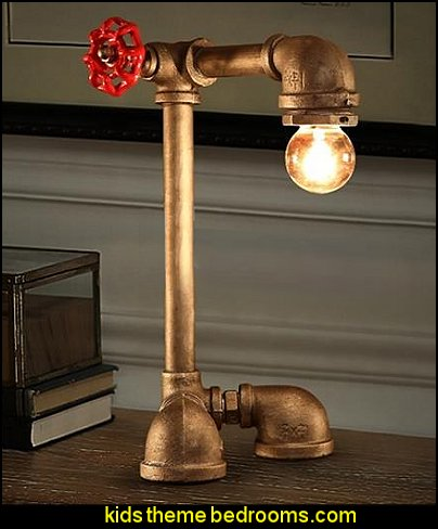 Iron Pipe Shape Decorative Table Lamp