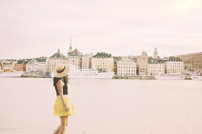 Best Stockholm Instagram Spots - Skeppsholem perfect view of Gamla Stan
