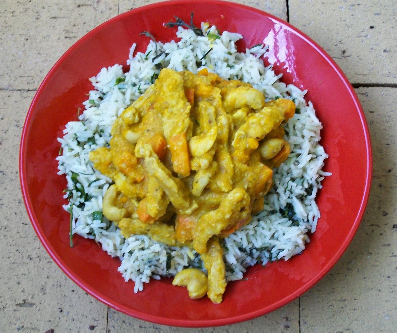 rezept vegan kürbis-curry mit kräuterreis hauptspeise