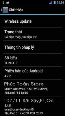 Tiếng Việt Thomson TLink 410 alt