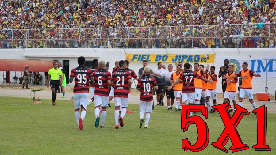 Com primeiro tempo arrasador, Vitória goleia Jequié e assume liderança do Baiano 1