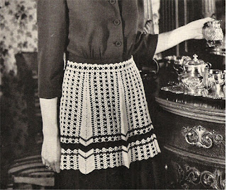 Crochet Striped Apron Pattern