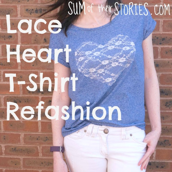 Lace Heart T-Shirt Refashion