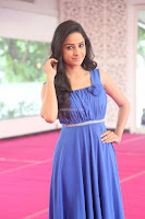 Divya Nandini stunning Beauty in blue Dress at Trendz Exhibition Launch ~  Celebrities Galleries 081.JPG
