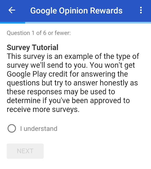 Google opinion reward , surveys