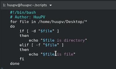 bash script check file and directory